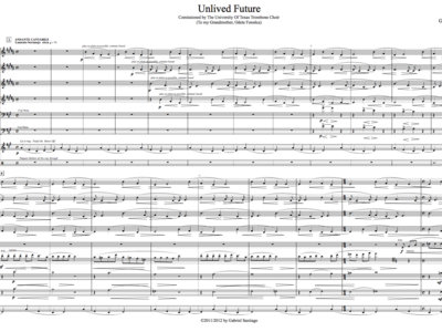 Jazz Orchestra - Unlived Future - Study Score main photo