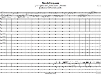 Expanded Jazz Orchestra - Words Unspoken - Study Score main photo