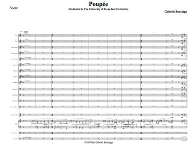Expanded Jazz Orchestra - Poupée - Study Score main photo