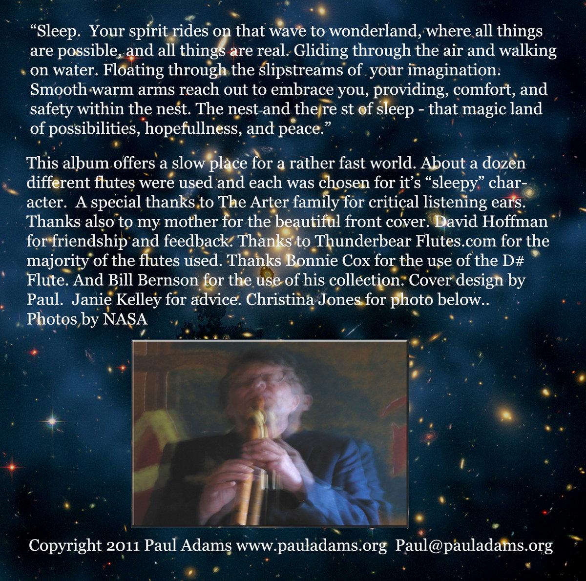 Sleep the dreaming flute   Paul Adams