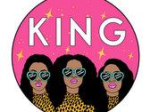 KING Sticker Triple Pack- 4x4 Vinyl Stickers photo