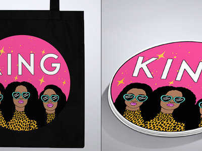 Limited Edition KING Tote Bag Plus Sticker Bundle main photo