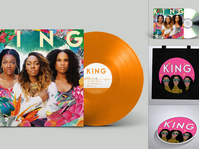 Limited Edition 'We Are KING'  Color Double Vinyl, CD, Tote Bag + Sticker Bundle main photo