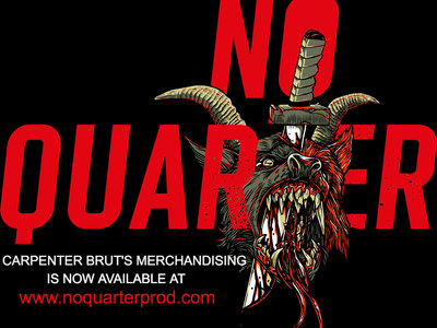 MERCH IS NOW AVAILABLE AT www.noquarterprod.com main photo