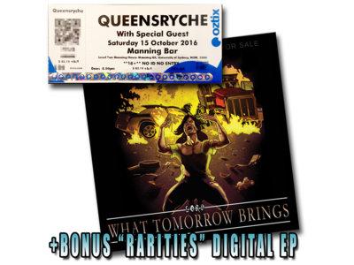 Queensryche Ticket + What Tomorrow Brings promo EP + Rarities Digital EP main photo