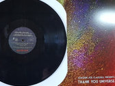 """Thank You Universe - Very Limited 12"""" Clear w/ Black Wash Vinyl Only. photo"""