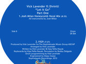 "Vick Lavender feat.Divinti "" Let it go "" Part 1 - 12"" Vinyl Release photo"