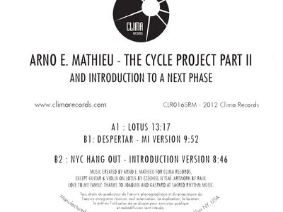"""Cycle Project Part 2 - 12"""" Vinyl Release. main photo"""