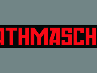 'DEATHMASCHINE' Screen-Printed Canvas Patch. main photo