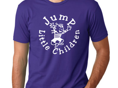 UNISEX Vintage Jumping Bobby Purple Tee & Sticker (Large only) main photo