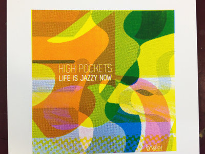 """Screen-printed Cover Art + Album from Visiting Cat """"Life is Jazzy"""" main photo"""