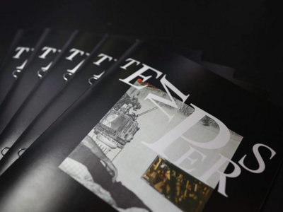 TEMPERS x SANG BLEU - collage art + lyrics booklet main photo