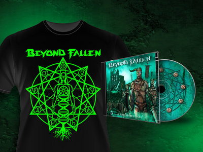 As The Spires Fall - CD & Sky Gods Tshirt bundle - US ORDERS ONLY! main photo