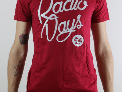"""""""Back in the Day"""" T-Shirt Red + Free Sticker main photo"""