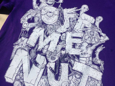 Off Me Nut - Spinnin' Out (Pogger) T-Shirt - PURPLE main photo
