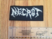 """Necrot - """"Logo"""" Embroidered Patch photo"""