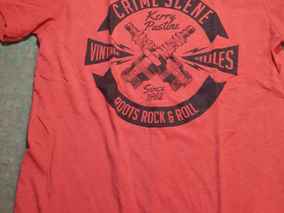 Soft Red Roots Rock n Roll Spark Plugs T-shirt main photo