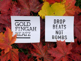 """Sticker - """"DROP BEATS NOT BOMBS"""" photo"""