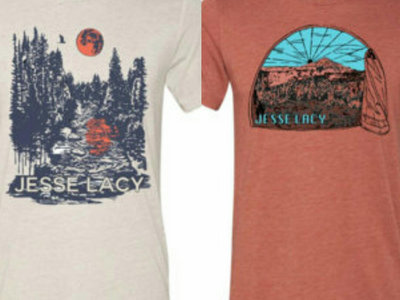 COMBO: Forest Harvest Moon On River & Morning View Through Tent - T-shirt + FREE SONG DL main photo