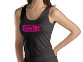 Womens Vest Tops-White & Pink- and Pink Glitter logo photo