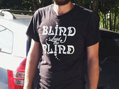 """Blind Lead The Blind"" Logo T-shirt (Dark Grey/White Logo) photo"