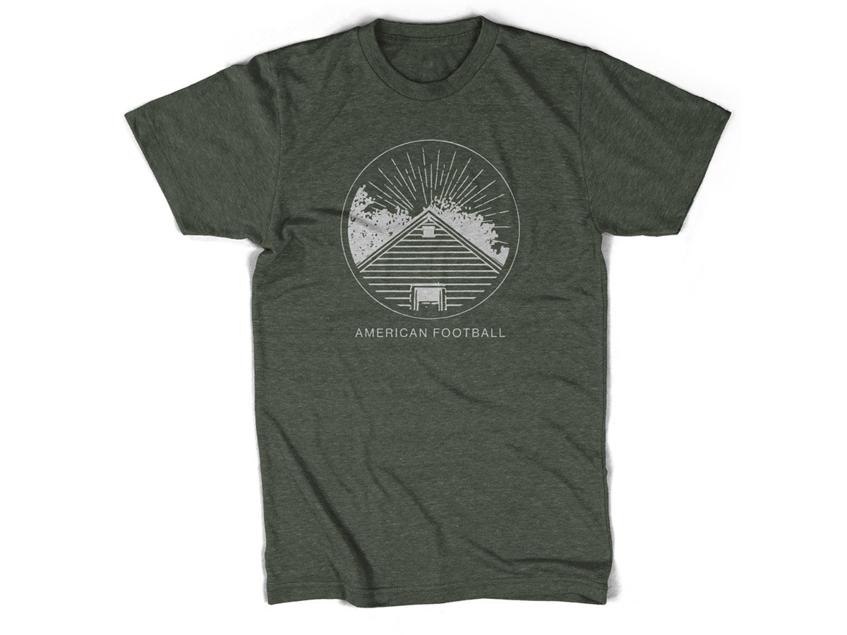 t shirt home is where the haunt is american football