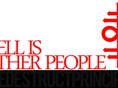 'HELL IS OTHER PEOPLE' - TDP Oversized Sticker main photo