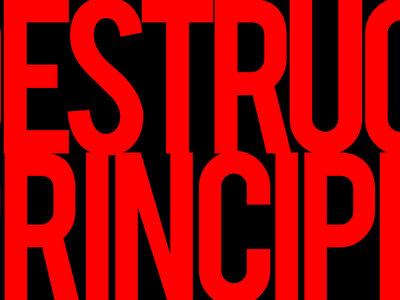 'THE DESTRUCT PRINCIPLE' Horizontal Sticker main photo