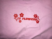 17 FLOWERS T-Shirt (Pale Pink) by Constance Mary. photo