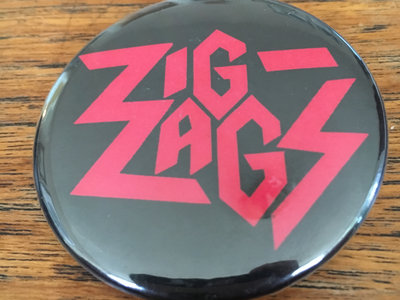 "Zig Zags ""Running Out of Red"" Logo Button main photo"