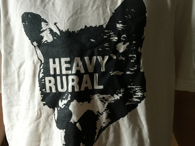 Heavy Rural logo t-shirt - white shirt with black print main photo