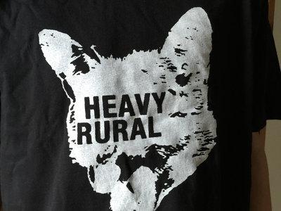 Heavy Rural logo t-shirt - black shirt with white print main photo