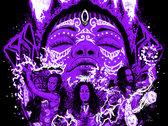 Vodun 'Warriors' Design Shirt - Purple and White on Black photo