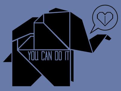Tiny Paper Elephant V-Neck T-Shirt! main photo