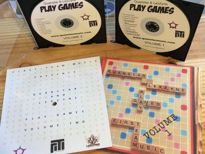 "Play Games Deluxe Set w/ 7"" lathe cut record, Volume 1 and 2 (CD), & digital comic - Only 100 available main photo"