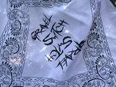 "Gravel Switch ""Logo"" Bandana (Black, White & Hot Pink) photo"