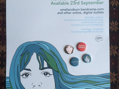 "Amelia Coburn ""Song of The Sea Rover"" poster and 4 badge combo main photo"