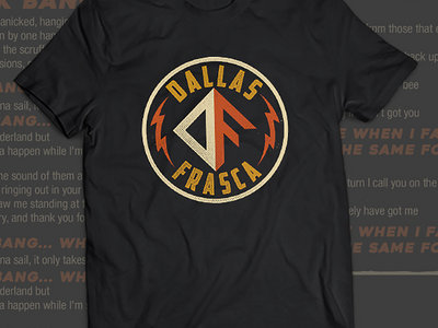 UNI SEX - Dallas Frasca - Black Tee - DF LOGO - HURRY ALMOST SOLD OUT!!! main photo