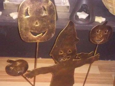 Hallowe'en candle metal decoration main photo