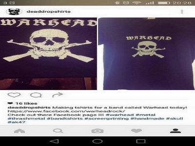 Warhead Skull and Guns T-Shirt main photo