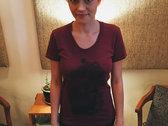 Whale Shirt - American Apparel Tri-Blend Cranberry photo