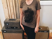 Whale Shirt - American Apparel Tri-Blend Coffee photo