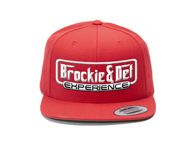 Brockie and Det Experience Red and White Embroidered Snapback main photo