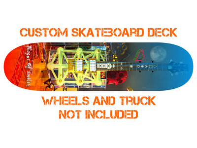 Custom Plague of Smiles Skateboard Deck main photo