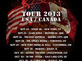 """Coldsteel 2013 """"Rise Tour"""" T-Shirt photo"""