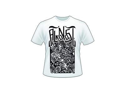 """""""Alkonost"""" white T-shirt main photo"""