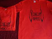 Primeval Mass T-shirt (Red/black) photo