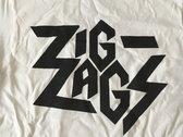 "Zig Zags Logo T-shirt ""White"" photo"