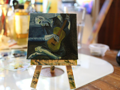 """""""The Old Guitarist"""" after Picasso by Dusty West-Payette main photo"""