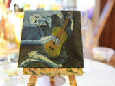 """""""The Old Guitarist"""" after Picasso by Dusty West-Payette photo"""